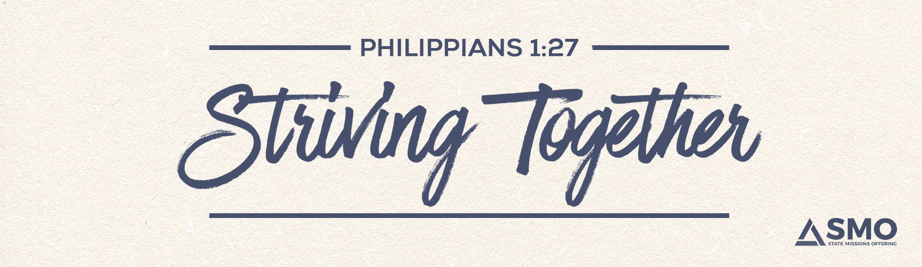 Striving Together - Philippians 1:27